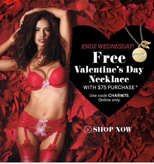 Free Valentine's Day Necklace with $75 Purchase