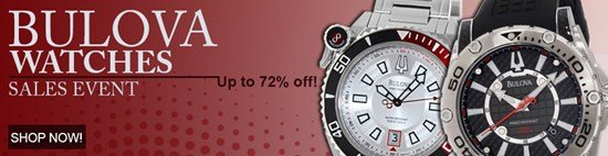Save up to 72% during the Bulova Watches sales event