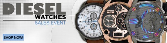 Save up to 42% during the Diesel Watches sales event