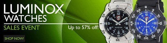 Save up to 57% during the Luminox Watches sales event