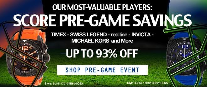Pre-Game Savings