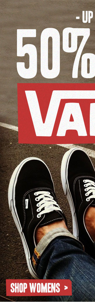Shop Womens Up To 50% Off Vans