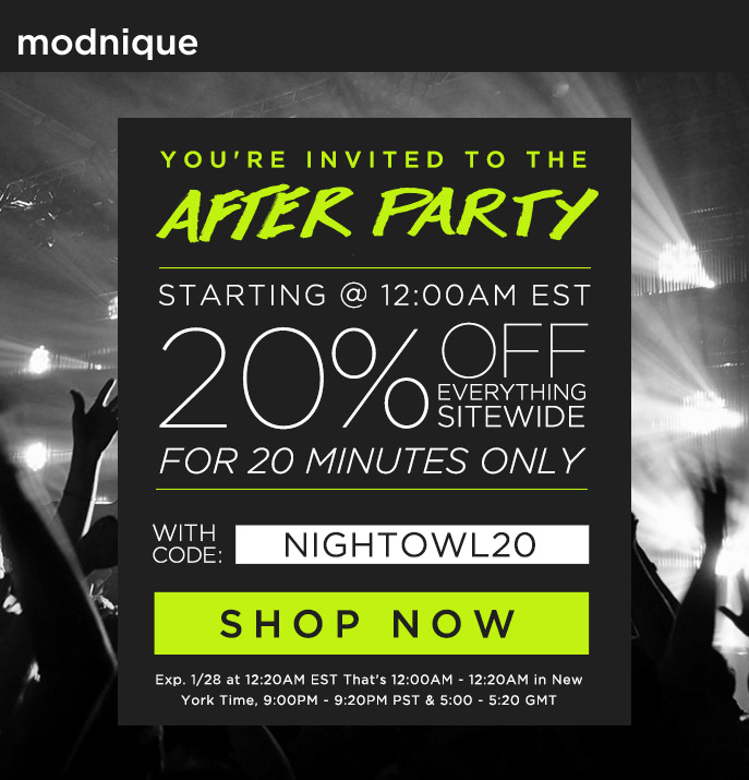 Happy Hour - 20% Off Everything Sitewide