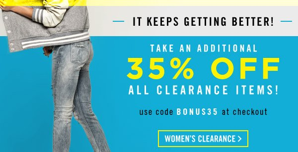 Extra 35% Off All Clearance! Shop Now!