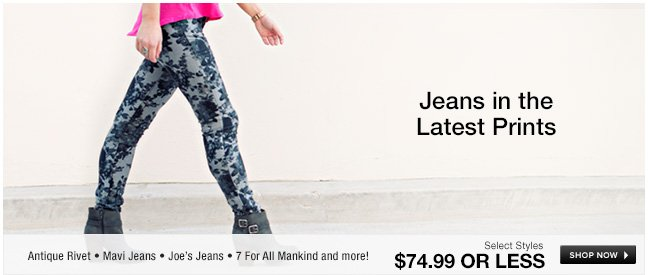 Jeans in the latest prints