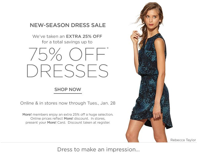 Up to 75% off Dresses