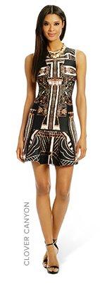 CLOVER CANYON - Gatsby Print Flounce Dress