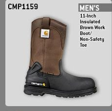 MEN'S 11-INCH INSULATED BROWN WORK BOOT /NON-SAFETY TOE
