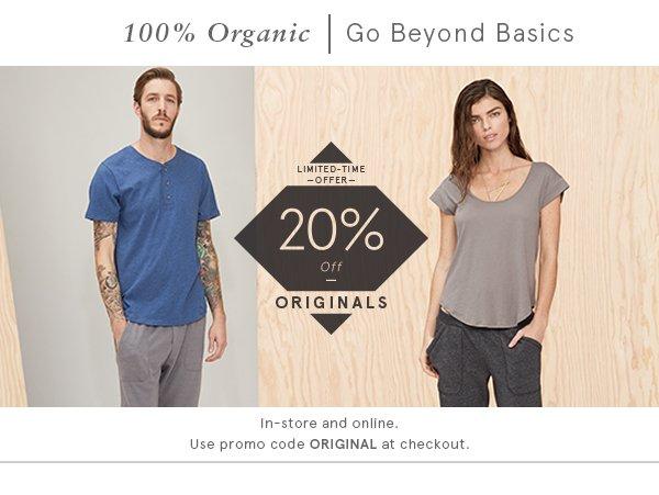 20% off Originals
