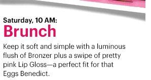 Saturday, 10am: Brunch