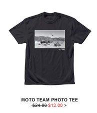 Moto Team Photo Tee $12.00
