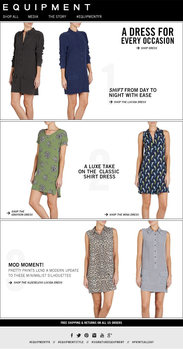 A DRESS FOR EVERY OCCASION SHIFT FROM DAY TO NIGHT WITH EASE A LUXE TAKE ON THE CLASSIC SHIRT DRESS MOD MOMENT! PRETTY PRINTS LEND A MODERN UPDATE TO THESE MINIMALIST SILHOUETTES
