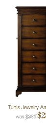 Tunis Jewelry Armoire > | was $389 | $288