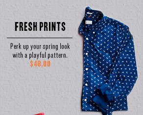 Fresh Prints - Perk up your spring look with the Laundered Printed Shirt in a playful pattern. $48.00