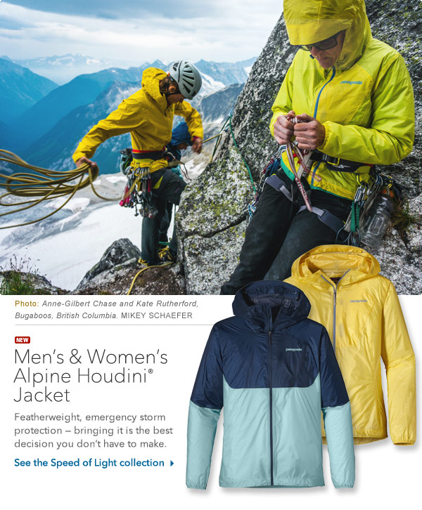 Alpine Houdini Jacket - Featherweight, emergency storm protection