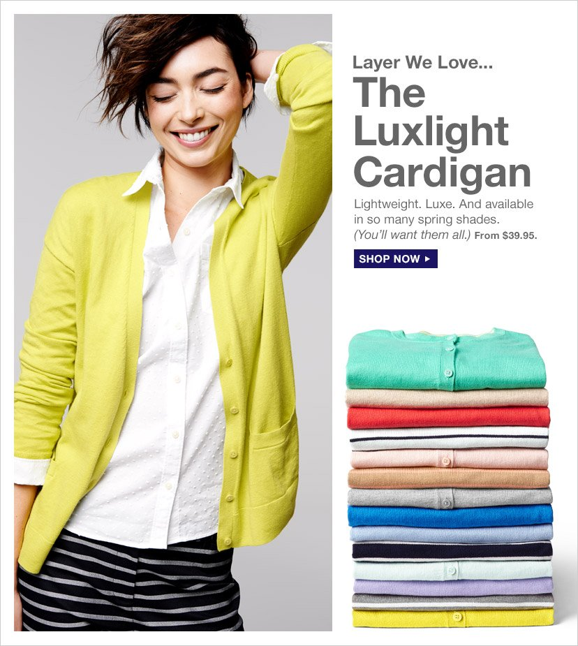Layer We Love... The Luxlight Cardigan | SHOP NOW