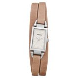 Fossil JR1370 Women's Delaney Beige Dial Sand Brown Leather Strap Watch