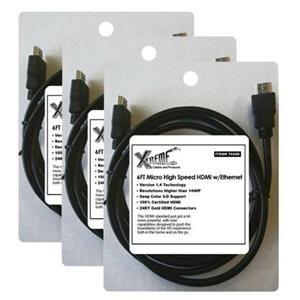 Adorama - Xtreme Cables 6' Bulk Micro HDMI Cables - 3-Piece Bundle