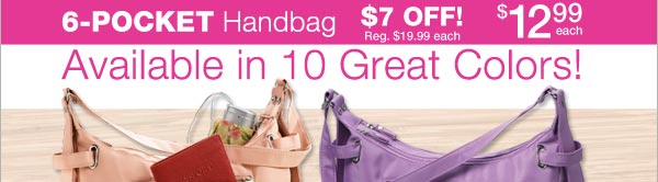 Shop 6 Pocket Handbag