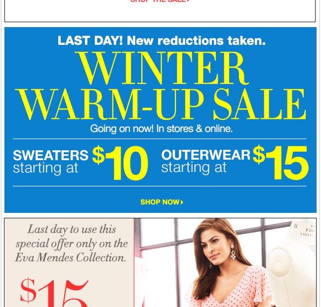Winter Warm Up Sale!