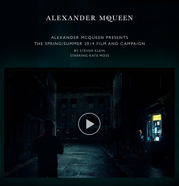 Alexander McQueen presents the Spring/Summer 2014 Film and Campaign