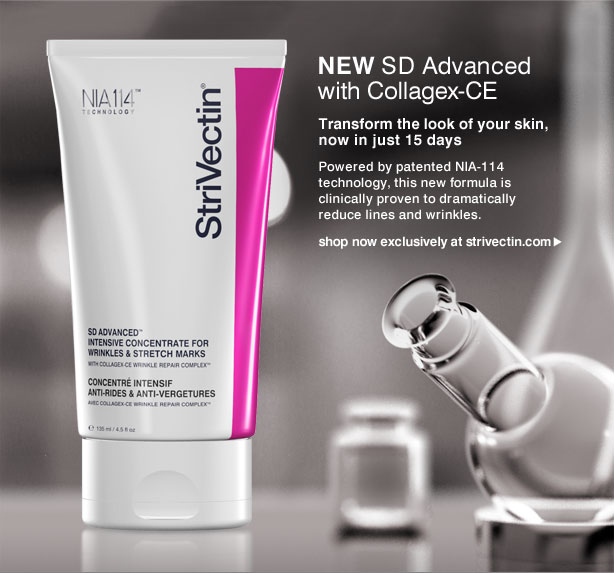 new SD Advanced with Collagex-CE Transform the look of your skin, now in just 15 days