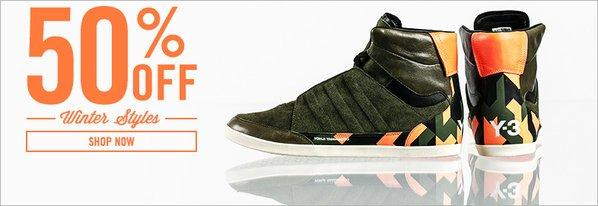 Shop adidas Y-3 Winter Styles: 50% Off