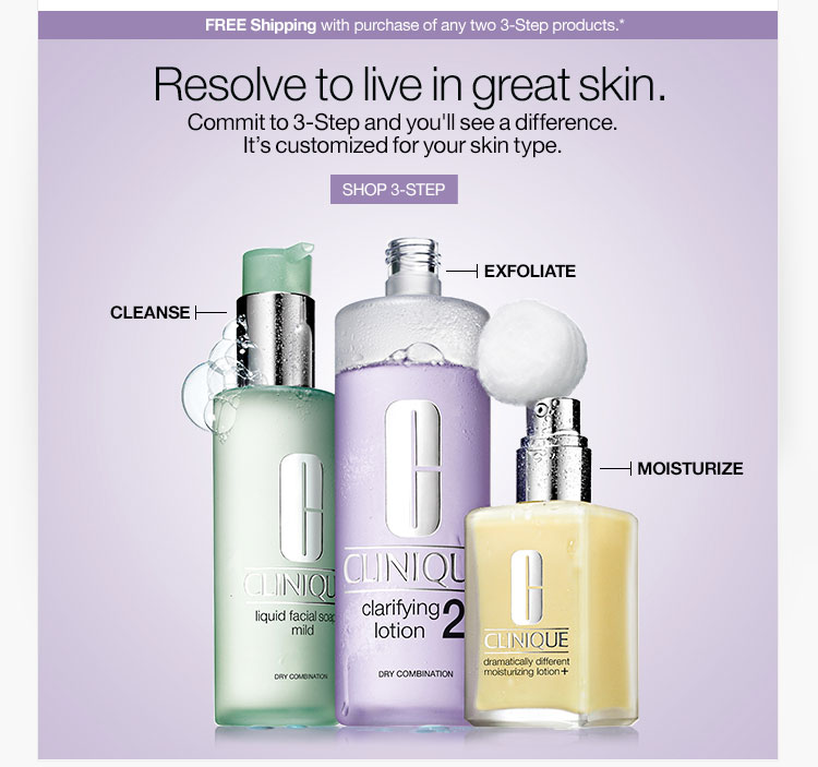 Resolve to live in great skin.