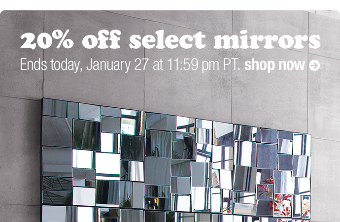20% off mirrors