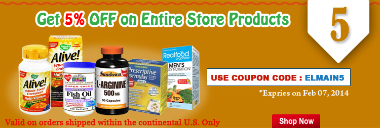 Get 5% off on entire store products