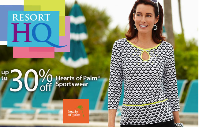 Up to 30% off Hearts of Palm Sportswear for Women