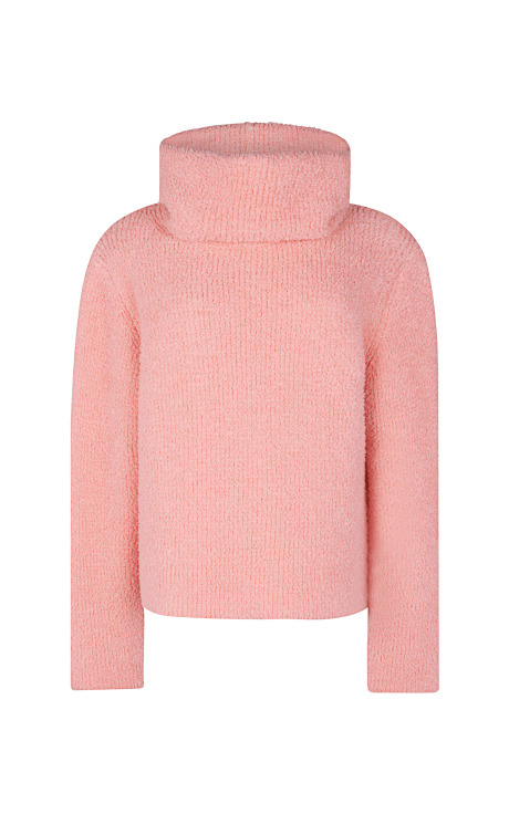 Plush Effect Double Face Sweater
