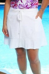 Women's Plus Size Cover Ups - Always For Me Cover Terry Ruffle Skirt Cover Up