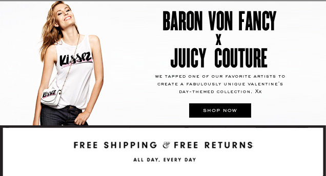 Baron Von Fancy X Juicy Couture. We tapped one of our favorite artists to create a fabulously unique Valentine's Day-themed collection. Xx. SHOP NOW.