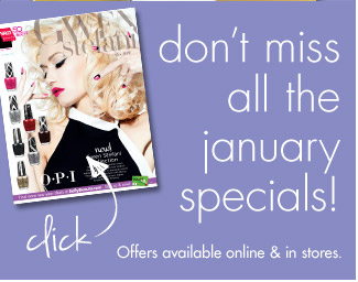 don't miss all the january specials!