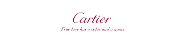 Cartier - True love has a color and a name