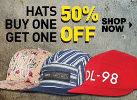 Hats: Buy One Get One 50% Off!