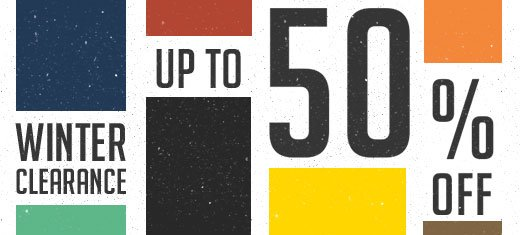 Up to 50% off Winter Clearance Shop Now