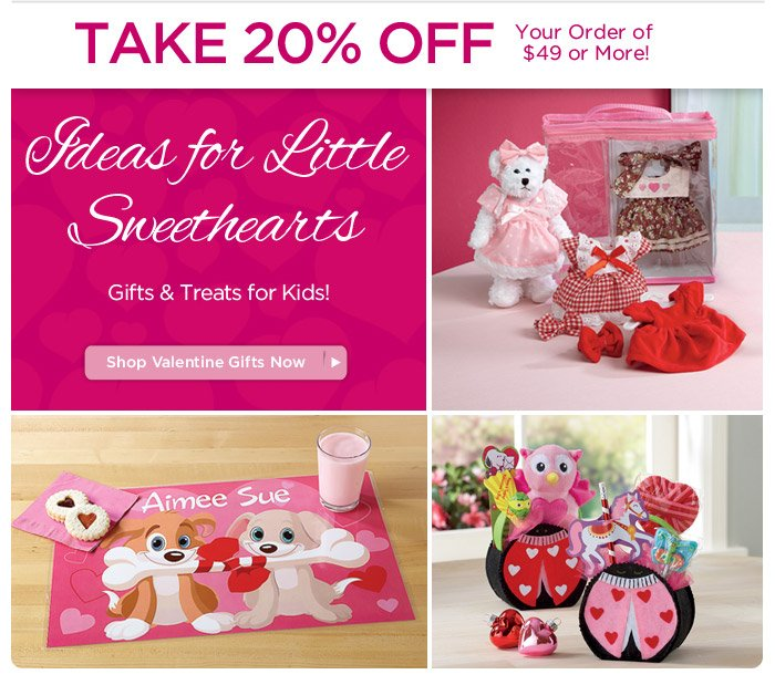 Ideas for Little Sweethearts & 20% OFF Sitewide