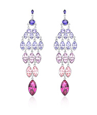 Tody Multi Purple Pierced Earrings