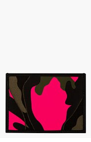 VALENTINO Green & PINK CAMO CARD HOLDER for men