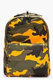 VALENTINO Orange Camo Backpack for men