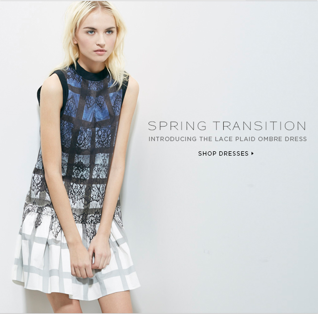 Spring Transition: Introducing the Lace Plaid Ombre Dress