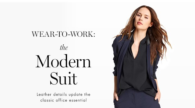 WEAR-TO-WORK | the Modern Suit | Leather details update the classic office essential