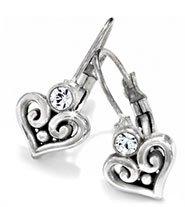 Alcazar Heart Leverback Earrings