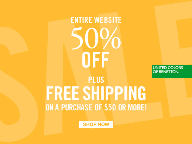 Get Free Shipping on all purchases of $50 or more + Enjoy 50% off everything! For a limited time.
