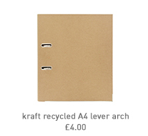 kraft recycled a4 lever arch