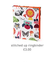 stitched up ringbinder