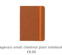 agenzio small chestnut plain notebook