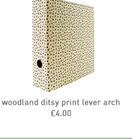 woodland ditsy print lever arch